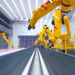 Промышленные роботы на предприятии